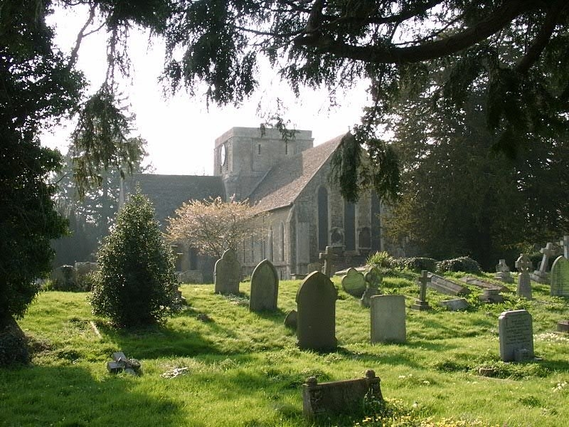 APRIL - All Saints church Faringdon Hilary Taylor